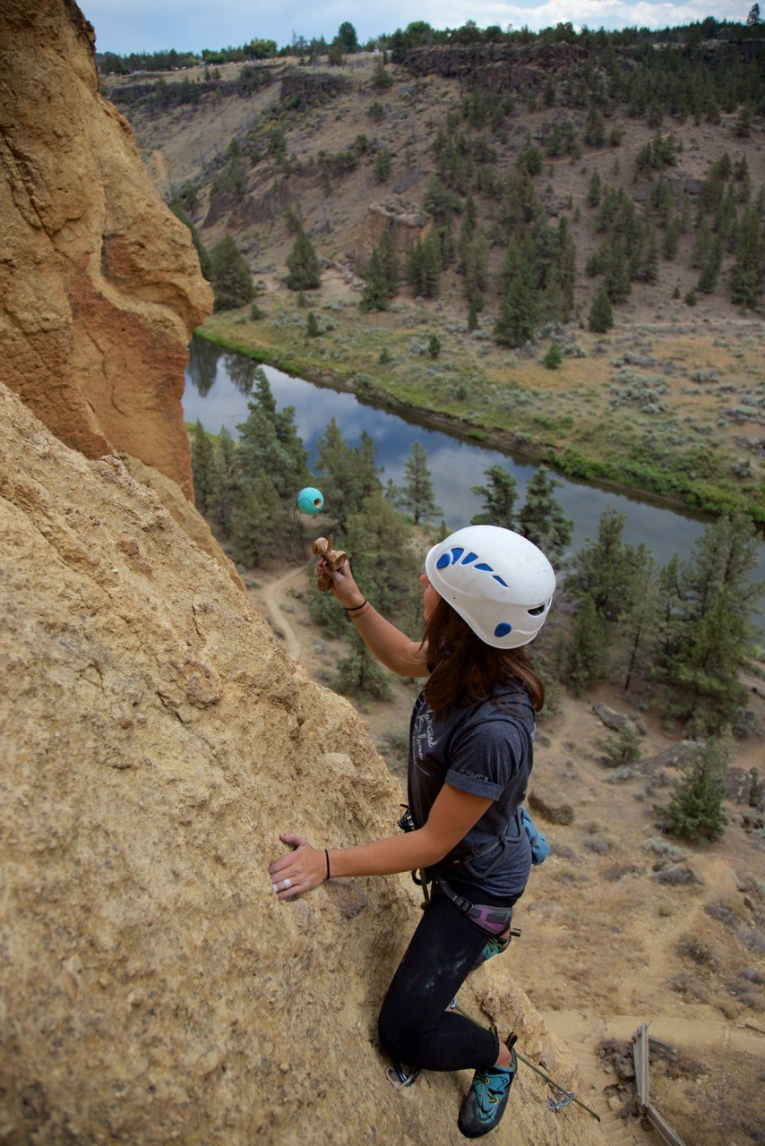 Haley Bishoff Rock Climbing and Playing Kendama