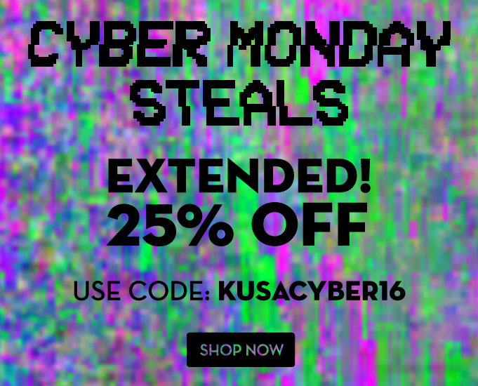 Cyber Monday Extended 2016 25% OFF KUSACYBER16