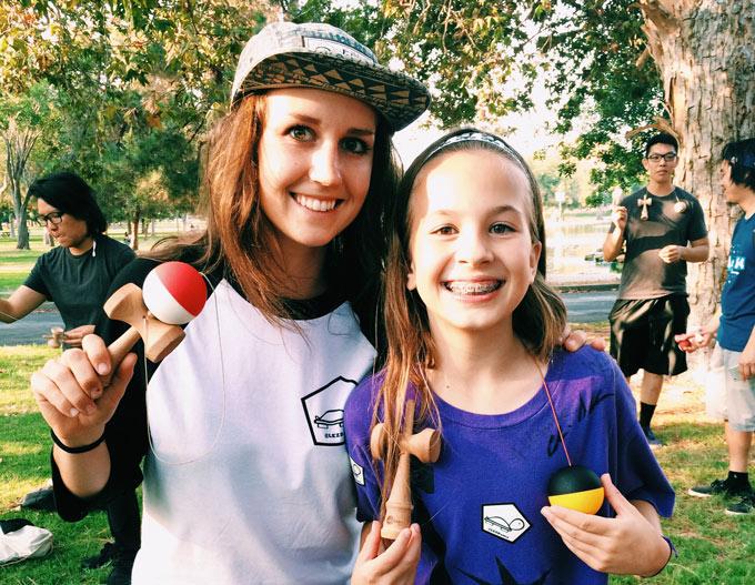 Emily Evans Haley Bishoff Half Split Kendamas USA