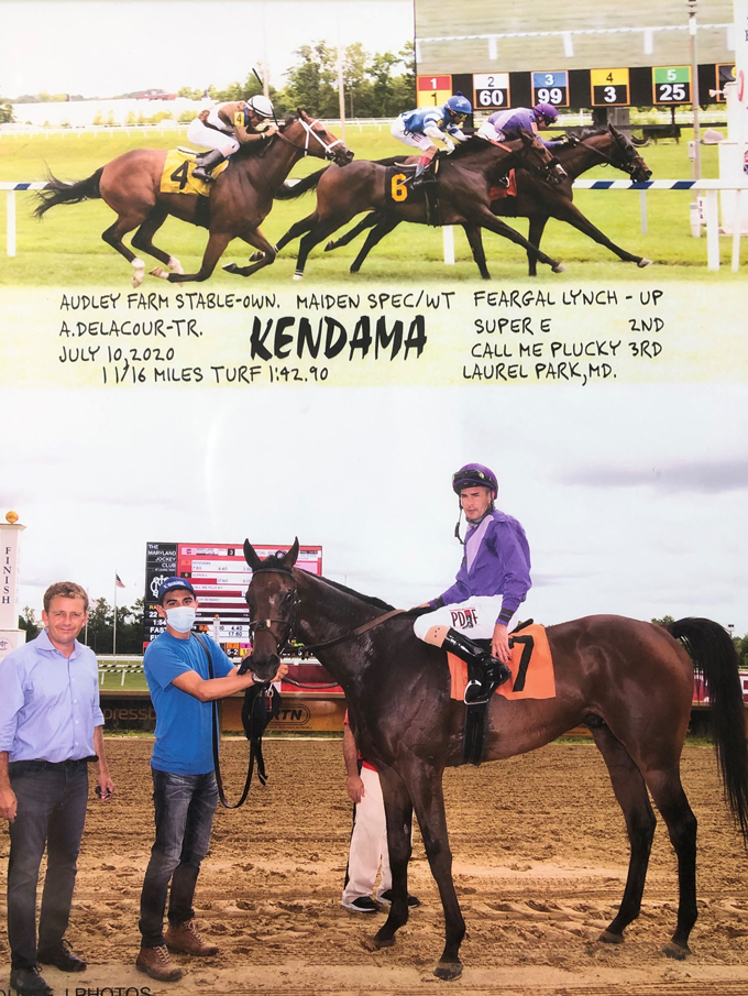 Racehorse Kendama Wins at Maryland